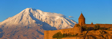 AM01096 Armenia, Yerevan, Ararat plain, Khor Virap Armenian Apostolic Church monastery, at the foot of Mount Ararat, where Grigor Luisavorich (St. Gregory the Illuminator) was imprisoned