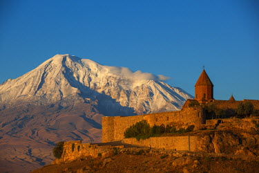 AM01097 Armenia, Yerevan, Ararat plain, Khor Virap Armenian Apostolic Church monastery, at the foot of Mount Ararat, where Grigor Luisavorich (St. Gregory the Illuminator) was imprisoned