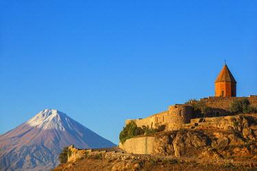 AM01098 Armenia, Yerevan, Ararat plain, Khor Virap Armenian Apostolic Church monastery, at the foot of Mount Ararat, where Grigor Luisavorich (St. Gregory the Illuminator) was imprisoned