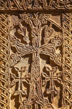 AM01114 Armenia, Kotayk province, near Yerevan, Geghard, Khachkars at Geghard Monastery