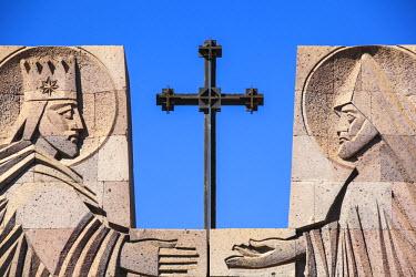 AM01189 Armenia, Echmiadzin complex, Open-air altar