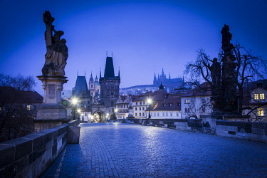 CZ01377 Charles Bridge, (Karluv most), Prague, Czech Republic