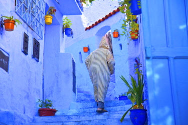 MC02797 Man In Robe, Chefchaouen, Morocco, North Africa