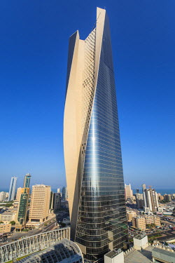 KW01159 Kuwait, Kuwait City, the Al Hamra building, tallest building in Kuwait completed in 2011