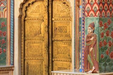 IN05527 India, Rajasthan, Jaipur, City Palace, Lotus Gate