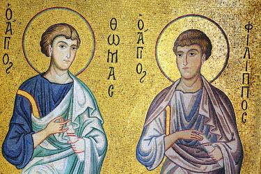 IT09297 Byzantine mosaic of church Santa Maria dell Ammiraglio (Martorana), Palermo, Sicily, Italy