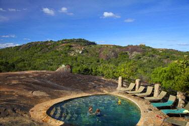 AF52DWA0132 Swimming Pool, Big Cave Camp, Matopos Hills, near Bulawayo, Zimbabwe, Africa (MR)