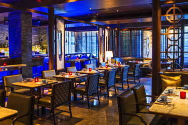 IND7552AW India, Maharashtra, Mumbai, Bandra, Hakkasan restaurant designed by Gilles & Boissier