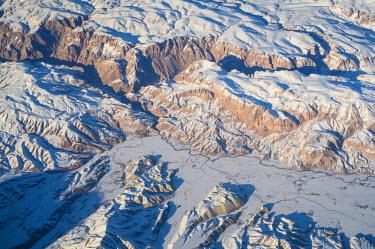 AF01107 Aerial view over Helmand in central Afghanistan