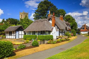 UK07577 UK, England, Warwickshire, Village of Welford-on-Avon near Stratford-upon-Avon