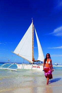 PHI1141 South East Asia, Philippines, The Visayas, Boracay, White Beach