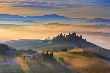 ITA2648AW Italy, Tuscany, Siena district, Orcia Valley, Podere Belvedere near San Quirico d'Orcia.