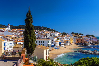 SPA5191AW The picturesque sea village of Calella de Palafrugell, Costa Brava, Catalonia, Spain