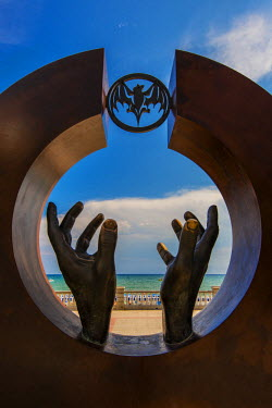 SPA5219AW Monument to Facundo Bacardi Masso, Sitges, Catalonia, Spain