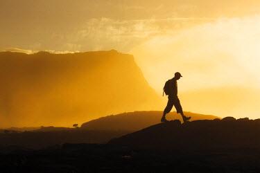 HMS1771197 Reunion island (French overseas department), Parc National de La Reunion (Reunion National Park), listed as World Heritage by UNESCO, Sainte Rose, Piton de la Fournaise, tourist hiking, horizontal vie...