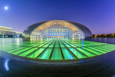 CN01334 China, Beijing, National Centre for the Performing Arts or National Grand Theatre, known as The Giant Egg by architect Paul Andreu