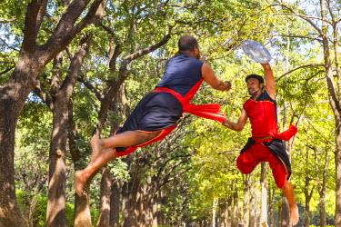 IN04328 Kalari martial art of Kerala, Kerala, India