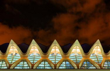 SPA5335AW Europe, Spain, Valencia, City of Arts and Sciences, Principe Felipe Science Museum