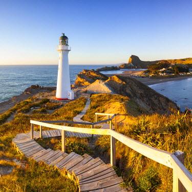 NZ01290 Lighthouse at Castlepoint, Wairarapa, North Island, New Zealand