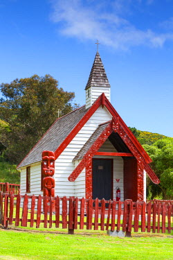 NZ02484 The beautiful little Onuku Church, Akaroa, Banks Peninsular, Canterbury, South Island, New Zealand