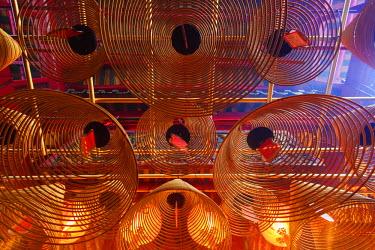 TPX44375 China, Hong Kong, Hollywood Road, Man Mo Temple