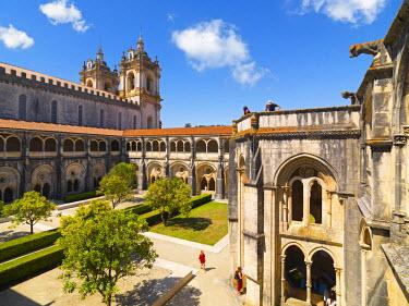 POR7530AW Portugal, Estremadura, Alcobaca, Santa Maria de Alcobaca Monastery, Cardinal's cloister (UNESCO World Heritage)