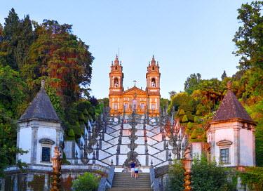 POR7542AW Portugal, Minho province, Braga, Bom Jesus do Monte at dusk
