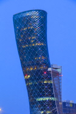 UE02103 United Arab Emirates, Abu Dhabi, Hyatt Capital Gate Hotel, Located in the iconic Capital Gate building, which leans a record-breaking 18 degrees.Part of the Abu Dhabi National Exhibition Centre (ADN...