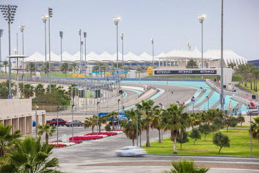 United Arab Emirates, Abu Dhabi, Yas Island, Yas Marina Circuit - home of the Etihad Airways Abu Dhabi Grand Prix