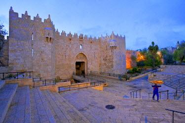 IS01727 Damascus Gate, Jerusalem, Israel, Middle East,