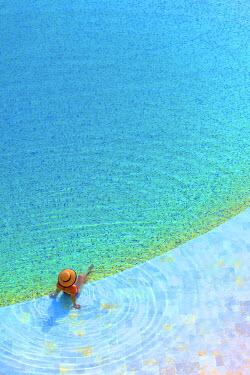 JD02227 Sunbathing At Kempinski Hotel, Sowayma, Dead Sea (lowest place on earth), Jordan
