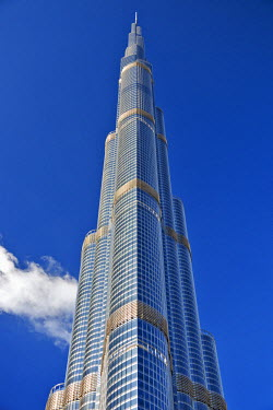 UAE0156 The Burj Khalifa (Armani Hotel) designed by Skidmore Owings and Merrill, Business Bay, Dubai, The United Arab Emirates.