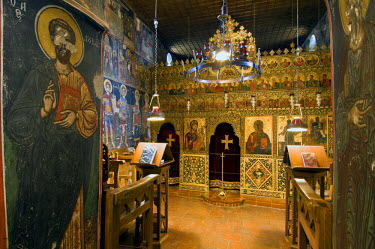 HMS0191263 Greece, Thessaly, Meteora UNESCO World Heritage Site, The Holy monastery of Agios Stefanos, chapel