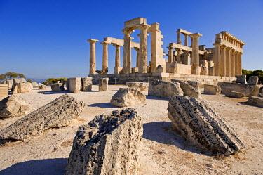 HMS0249707 Greece, Saronic Gulf, Aegina Island, Afaia Temple (Aphaia or Aphea)