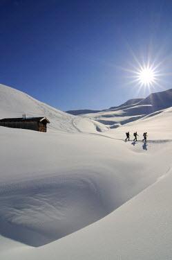 AUT0551AW Snowshoe, Rosswildalm, Tristkopf, Kelchsau, Tyrol, Austria, (MR)