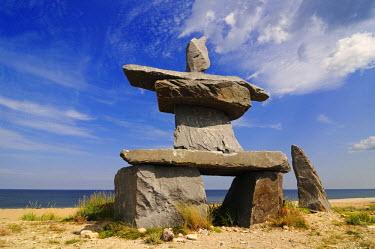 CAN2742AW Inukshuk, Churchill, Hudson Bay, Manitoba, Canada