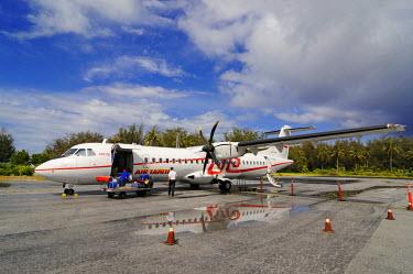 FPO0018AW Air Tahiti, Airport Bora Bora, French-Polynesia