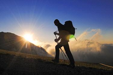 ITA2940AW Climbing, Corno Grande, Campo Imperatore, Gran Sasso National park, Abruzze, Italy (MR)