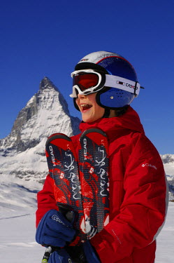 Boy, Skier, Valais, Switzerland (MR)