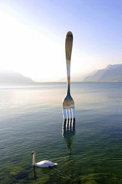 SWI7428AW La Fourchette, Vevey, Lake Geneva, Switzerland