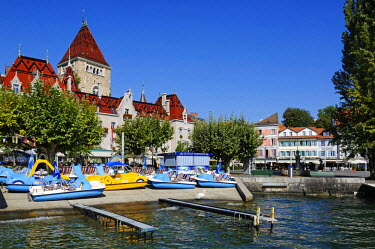 SWI7434AW Chateau d'Ouchy, Lausanne, Lake Geneva, Switzerland
