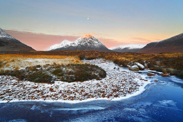 FVG002120 United Kingdom, UK, Scotland, Beautiful sunrise in front of Buachaille Etive Mor the most iconic mountains of Scotlands
