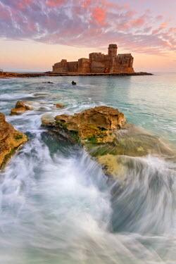 FVG006096 Italy, Calabria, Crotone, Sunset at Le Castella