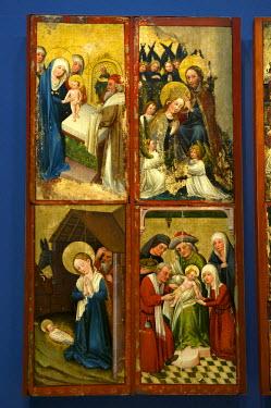HMS0641243 Germany, Black Forest, Schwarzwald, Baden-Wuerttemberg, Freiburg, Augustinermuseum, Staufen altarpiece, Upper Rhine, 1420-1430