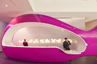 HMS0691193 Germany, Berlin, Friedrichshain-Kreuzberg, banks of the Spree river, NHow hotel Berlin conceived by designer Karim Rashid, lobby