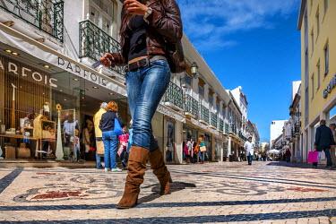 POR7711AW Main street, Rua de Santo Antonio, Faro, Algarve, Portugal