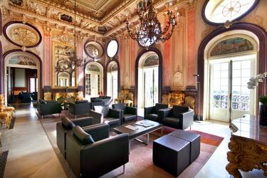 POR7732AW Lounge, Pousada hotel, Estoi palace, Estoi, Algarve, Portugal