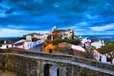 POR7905AW Sunset, Monsaraz, Alentejo, Portugal