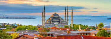 TK01601 Turkey, Istanbul, Sultanahmet, The Blue Mosque (Sultan Ahmed Mosque or Sultan Ahmet Camii)