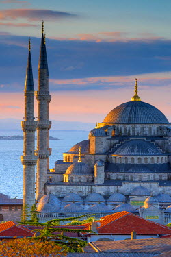TK01603 Turkey, Istanbul, Sultanahmet, The Blue Mosque (Sultan Ahmed Mosque or Sultan Ahmet Camii)
